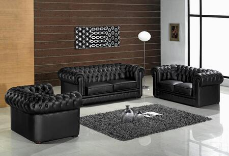 VIG Furniture VGEV22201 Paris Series Sofa/Loveseat/Chair Fabric Sofa