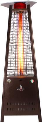 Lava Heat LHI Natural Gas Triangular 6 ft. Tall Commercial Flame Patio Heater with 42,000 BTU Power Rating, 5 ft. Heat Radius and Safety Tilt Switch