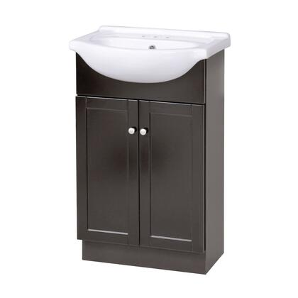 """Foremost COEAT x"""" Columbia Collection Vanity Combo with Brushed Nickel Knobs and Closed Arched Toe Kick in a Espresso Finish"""