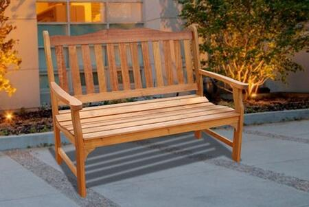 Vifah V1236E Picnic Wood Frame Armed Patio Benches