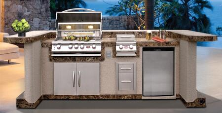 Cal Flame PV7000 Outdoor Kitchen Island Package