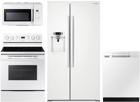 Samsung 1011532 4 piece White Kitchen Appliances Package