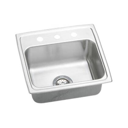 "Elkay LR19180 19"" Top Mount 18-Gauge Single Bowl Self-Rim Stainless Steel Sink"