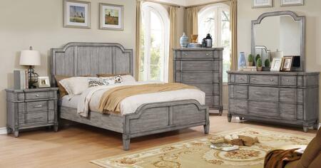 Furniture of America CM7855QBEDSET Ganymede Queen Bedroom Se