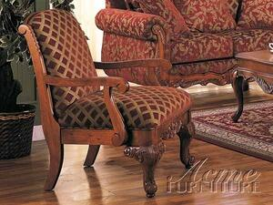 Acme Furniture 05617 Georgian Series Chair Fabric Wood Frame Accent Chair