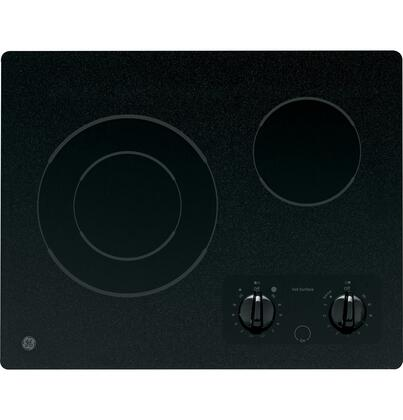 "GE JP256BMBB Cooktop Smoothtop No 21"" 20.125""  Knobs Electric Cooktop 