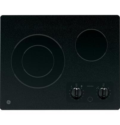 "GE JP256BMBB 21""  Black 2 Element Electric Cooktop"