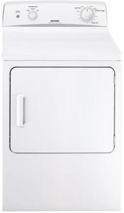 "Hotpoint HTDX100GDWW 27"" 6.0 cu. ft. Gas Dryer, in White"