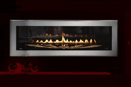 "Napoleon LHD50SS Swarovski Special Edition Linear Front View Fireplace With 1000 ""CRYSTALLIZED - Swarovski Elements"" In The Two Sided Unit & Polished Chrome Beveled Door Frame"