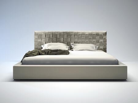 Modloft MD335CKGRY Madison Series  California King Size Platform Bed