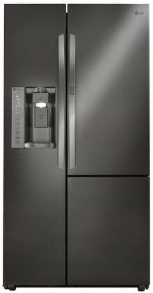 """LG LSXS26366 36"""" Side-by-Side Refrigerator with 26 Cu. Ft. Capacity, Water/Ice Dispenser, Door-in-Door, Smart Cooling, Premium LED Lighting, Door Alarm, in"""