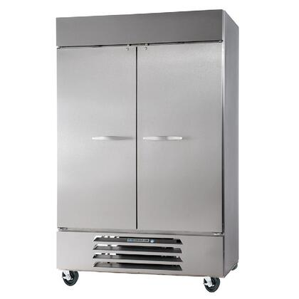 "Beverage-Air HBF49-1 52"" Horizon Series Two Section [Solid Door] Reach-In Freezer, 49 cu.ft. Capacity, Stainless Steel Exterior and Interior, with Bottom Mounted Compressor"