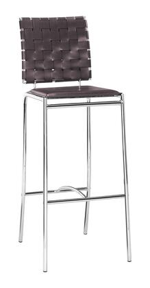 Zuo 333070 Criss Cross Series  Bar Stool