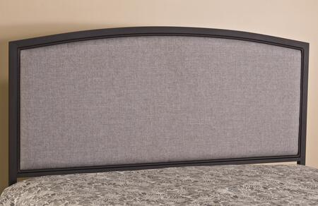 Hillsdale Furniture 1263H Bayside Headboard with Rails, Fabric Upholstery, Bolt-On Metal Frame and Tubular Steel Construction in Textured Black Color