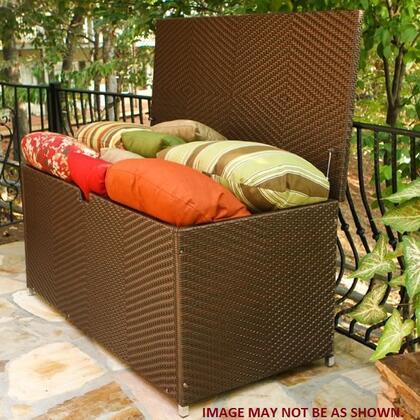 Tortuga LEX-L Sea Pines Large Wicker Storage Box w/ Waterproof Lid in