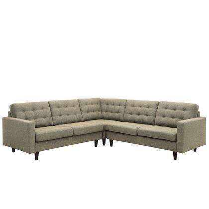 Modway EEI1417GRA Empress Series Stationary Fabric Sofa