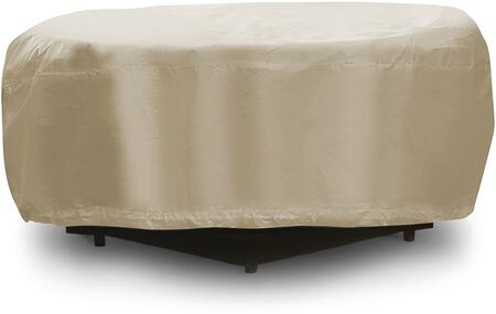 """PCI by Adco 48"""" Fire Pit Outdoor Cover with UV Treated, Water Resistant, Soft Fleece Polyproplene Backing and Heavy Duty Vinyl Fabric in"""