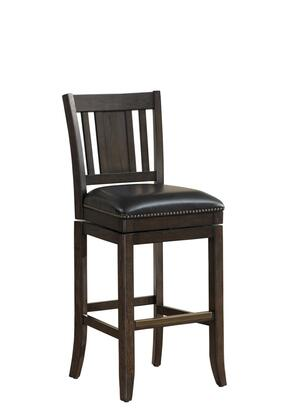 American Heritage 11114X San Marino Series with Riverbank Wooden Frame and Bonded Leather Cushion in Black