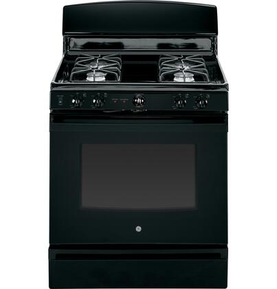 "GE JGB450XEFXX 30"" Freestanding Gas Range with 4 Sealed Burners, 4.8 cu. ft. Capacity, Self-Clean Option, ADA Compliant, Storage Drawer and LP Gas Conversion Kit Included: XXX"