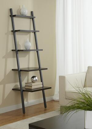 Unique Furniture B2271 Leaning Ladder Narrow 5-Shelf Bookcase