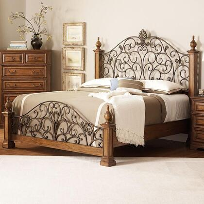 Coaster 201620Q Edgewood Series  Queen Size Poster Bed