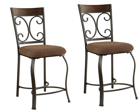 Acme Furniture 72257 Hakesa Series Transitional Fabric Metal Frame Dining Room Chair