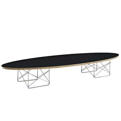 Modway EEI-302 Surfboard Elongated Coffee Table with Modern Design, High Grade Plywood Top, and Polished Stainless Steel Base, in