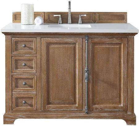 "James Martin Providence Collection 238-105-5211- 48"" Driftwood Single Vanity with Plantation Style Hardware, Two Soft Close Doors, Three Soft Close Drawers and"