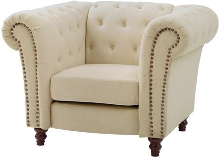 Glory Furniture G758C Fabric Armchair in Light Beige