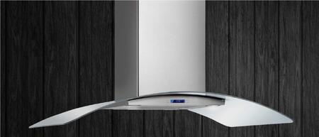 Como Stainless, Glass Wall Mounted Range Hood: Standard View of the Hood Mounted on a Wall