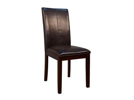 AAmerica PRSES224K Parson Series Contemporary Leather Solid Hardwood Frame Dining Room Chair