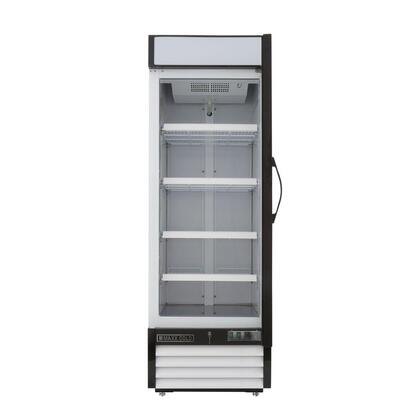 """Maxx Cold MXM123 25"""" X-Series Merchandising Display Refrigerator with 23 Cu. Ft. Capacity, Coated Steel Exterior and Interior, Digital Display, CFC-Free Refrigerant, and Double Pane Glass Door:"""