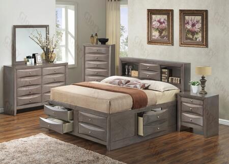 Glory Furniture G1505GKSB3DMN G1505 King Bedroom Sets
