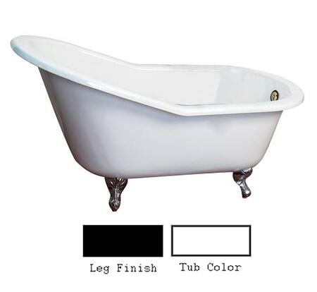 "Barclay CTS7H67IG 67"" Jennings Cast Iron Slipper Tub with Overflow and 7"" Rim Holes and Feet Finished in:"