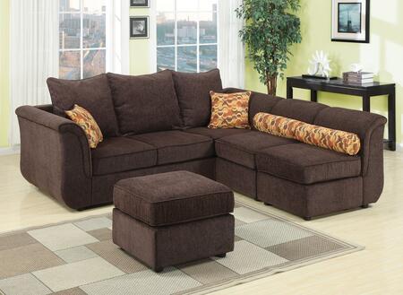 Acme Furniture 15230 Caisy Series Stationary Fabric Sofa