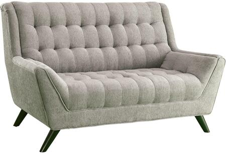 "Coaster Natalia 63"" Retro Loveseat with Flared Arms, Tufted Seating, Pocket Coil Seating, Kiln Dried Hardwood Frame and Chenille Fabric Upholstery in"