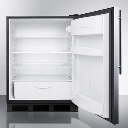 summit ff6bbi7sshvada 24 inch ff6bi7ada series stainless steel counter depth all refrigerator. Black Bedroom Furniture Sets. Home Design Ideas