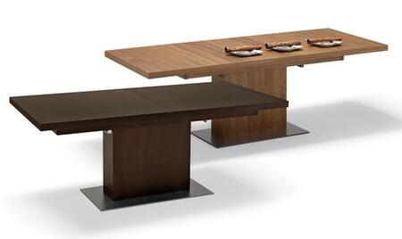 Domitalia VITA-BA/ 01 Vita Series Contemporary Extendable Rectangular Dining Table: