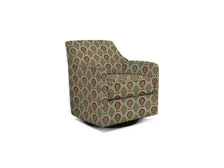 """Bassett Furniture Mia Collection 1136-09/BEx 32"""" Swivel Glider with Fabric Upholstery, Canted Back, Rolling Track Arms and Casual Style in"""
