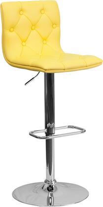 Flash Furniture CH112080YELGG Residential Vinyl Upholstered Bar Stool