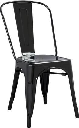 Fine Mod Imports FMI10014BLACK Talix Series  Metal Frame  Patio Chair