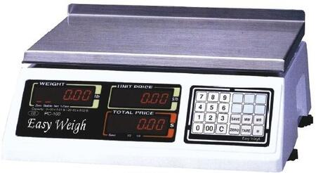 Skyfood PC-100 Easy Weigh Advanced Price Computing Scale with 60 lb. Capacity, LCD Display, Stainless Steel Platter, UV-Sealed Keypad and PLU Programming