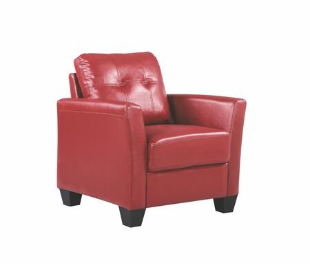 Glory Furniture G574C G570 Series Faux Leather Armchair in Red