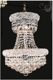"J & P Crystal Lighting Bangle Collection SP1800D16 16"" Wide Chandelier in X Finish"