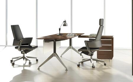 Unique Furniture 1C300002CXX Executive Desk with File Credenza
