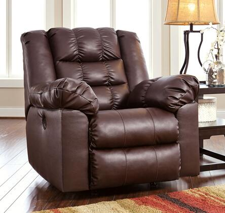 Signature Design by Ashley Brolayne DuraBlend 8320X25 Rocker Recliner with Thick Pillow Padded Arms, Tufted Back Cushion and Deep Stitching Details in