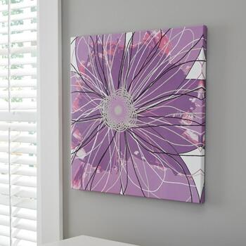 """Milo Italia Shyanne WA139242TM 25"""" Canvas Wall Art with Flower Depicted, Giclee Reproduced and Sawtooth for Hanging, in"""
