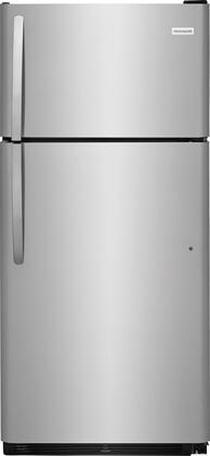 "Frigidaire FFHT1832Tx 30"" Energy Star Freestanding Top Freezer Refrigerator with Ice Maker, 16 cu. ft. Capacity, 2 Full Width SpillSafe Glass Shelves, 1 Full Width Wire Freezer Shelf, and Reversible Door, in"