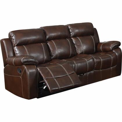 Coaster 603021 Myleene Series Reclining Bonded Leather Sofa