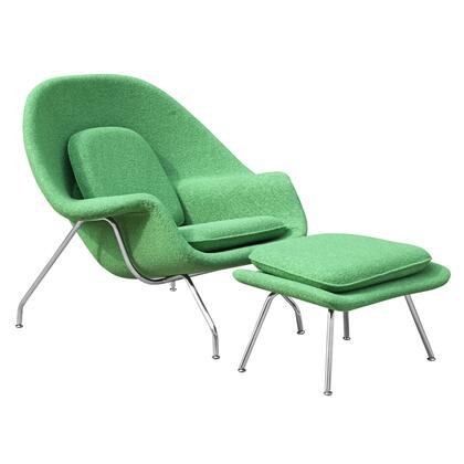 Fine Mod Imports FMI1134GREEN Woom Series Armchair Fabric: 100% Wool Fiber Glass Frame Accent Chair